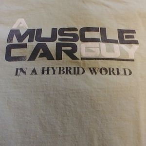 Other - 👕Mens muscle car green T Shirt Sz L
